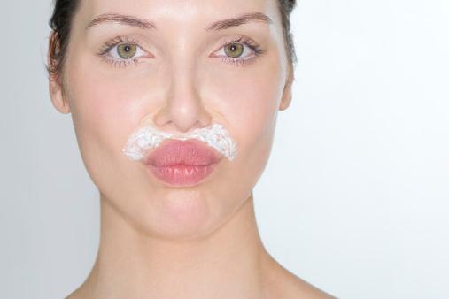 Reduce facial hair in women
